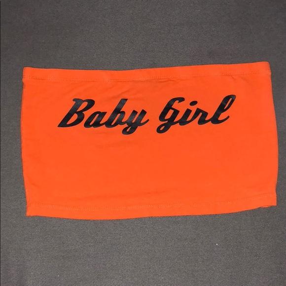 3803ff8563320 Forever tops baby girl logo orange tube top poshmark jpg 580x580 Orange  tube tops
